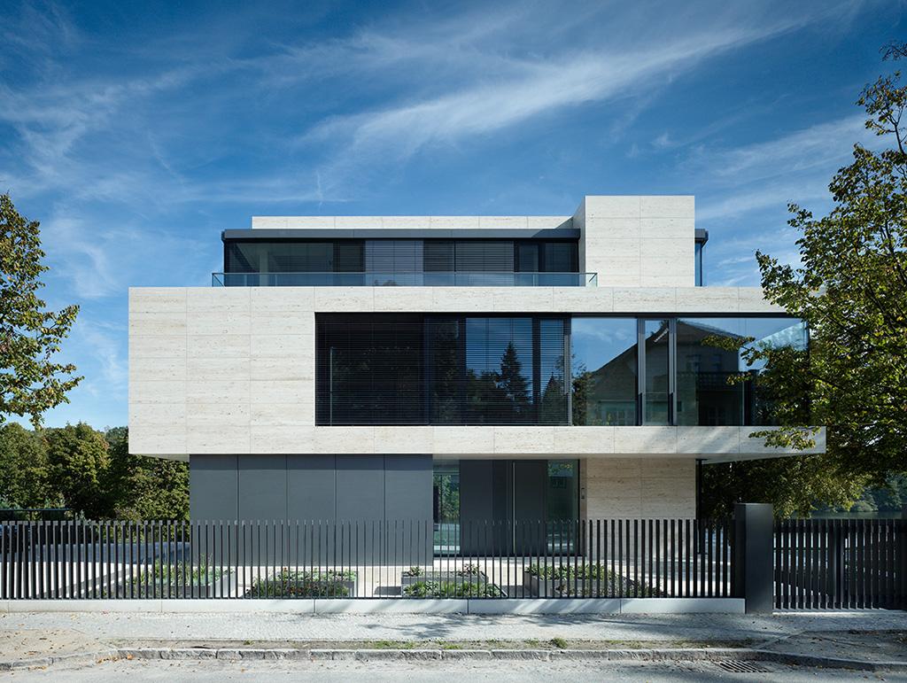 Virchowstra e axthelm rolvien for Hausfronten modern